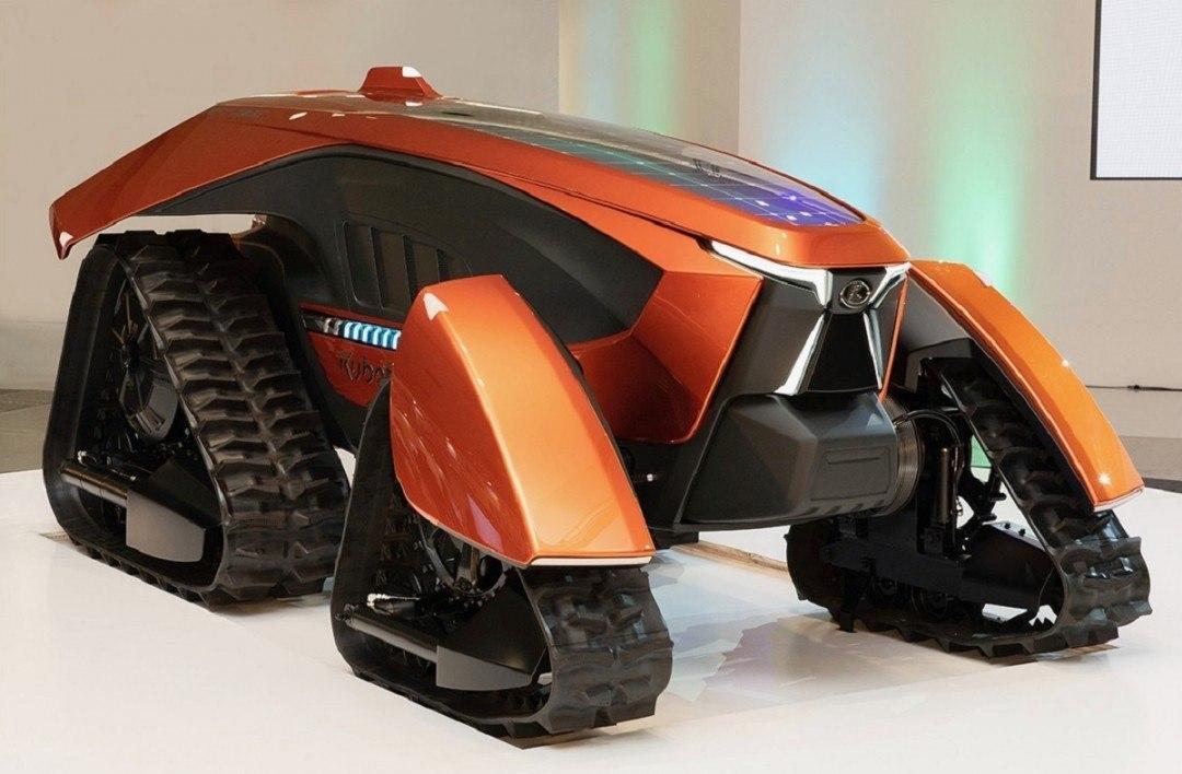Уникальная модель трактора от компании Kubota впервые была представлена на выставке в Японии
